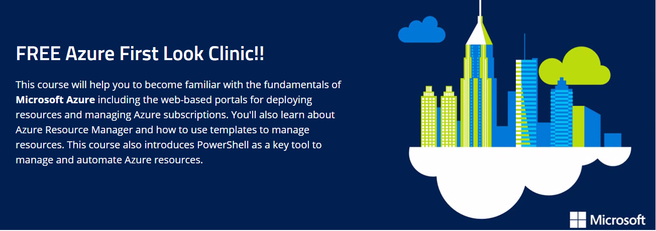 Get FREE Azure First Look Clinic!!